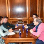 Reunión en Diputación para abordar cuestiones de la Ruta del Vino Manchuela