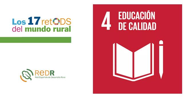 REDR lanza su boletín sobre el ODS 4 'Educación de calidad', dentro la campaña «17 retODS del mundo rural»