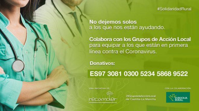 Recamder apela a la solidaridad rural para proteger a los profesionales que luchan contra el coronavirus