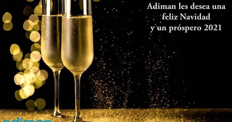 Adiman les desea feliz Navidad y feliz año nuevo