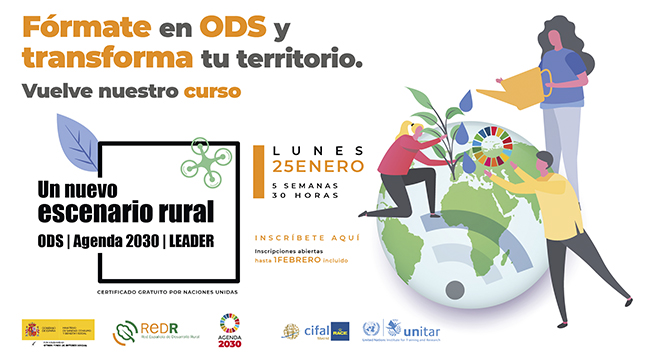 """REDR lanza de nuevo el curso """"Un nuevo escenario rural: ODS, Agenda 2030 y LEADER"""", tras el éxito de la primera edición"""