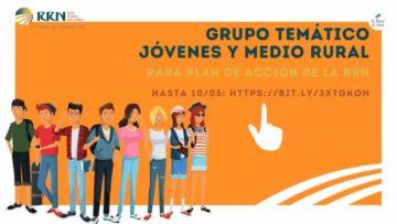 Grupo temático 'Jóvenes en el medio rural' de la Red Rural Nacional