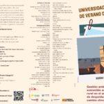 Curso de gestión ambiental sostenible en el medio rural por la Universidad de Verano de Teruel
