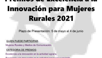El Ministerio de Agricultura, Pesca y Alimentación convoca los XII Premios de Excelencia a la Innovación para Mujeres Rurales