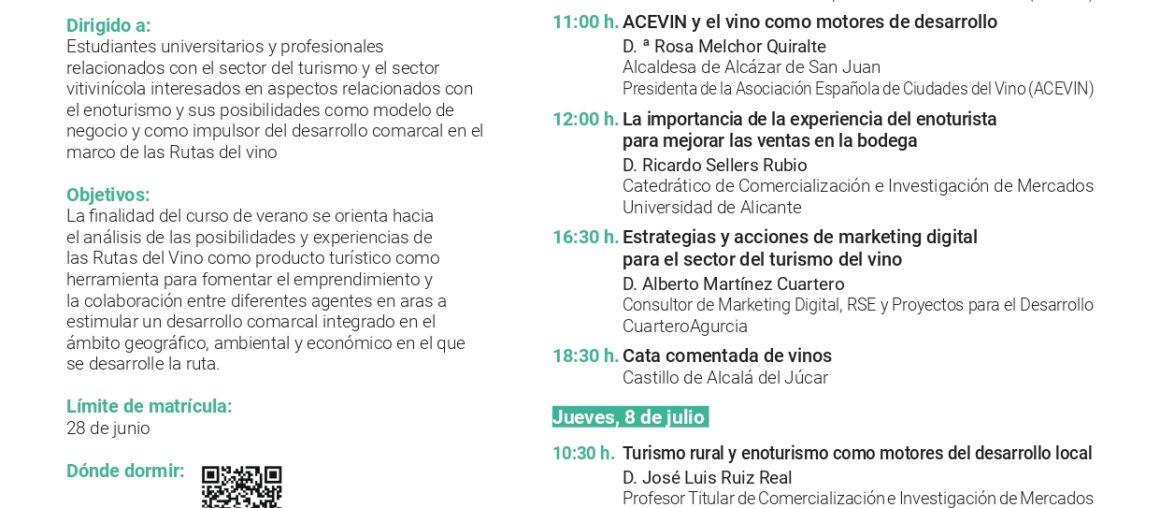 La UCLM y la Ruta del Vino Manchuela organizan un curso de verano los días 7 y 8 de julio