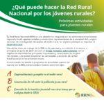La Red Rural Nacional publica una hoja de ruta con sus próximas actividades para los jóvenes rurales